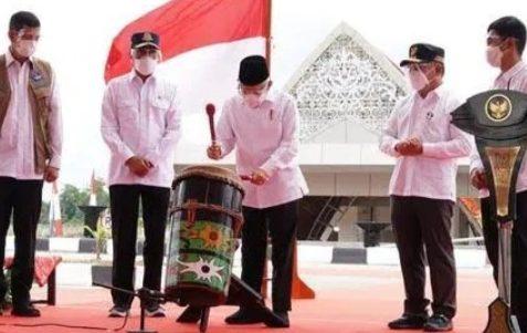 Bandara Haji Muhamad Sidik, di Resmikan Wakil Presiden RI Prof. KH. Ma' ruf Amin
